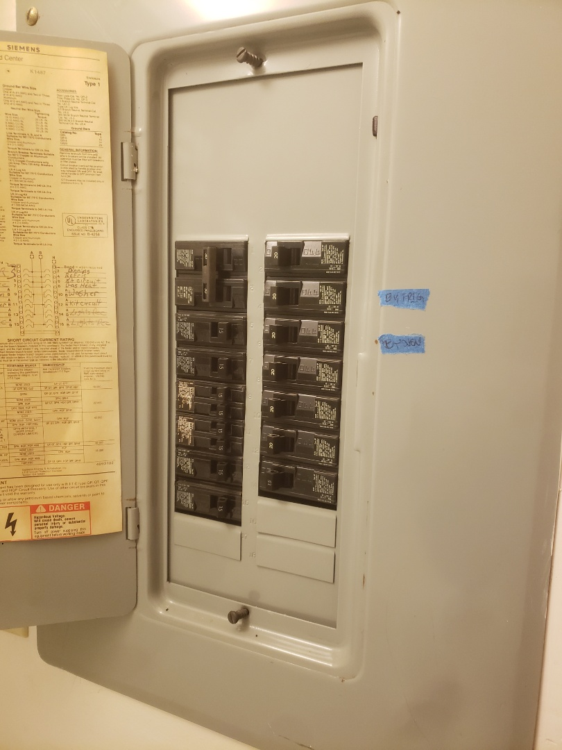 Troubleshoot faulty circuits throughout the house, found loose connections in the panel box