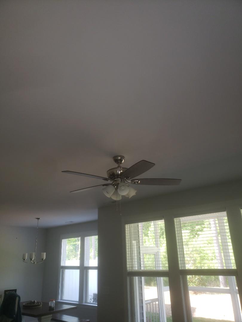 Installed 3 customer supplied ceiling fan