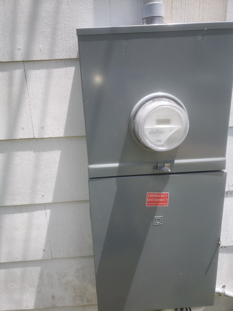 Swapped out outdoor meter panel