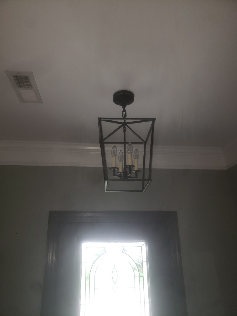 Installed new customer supplied light in foyer