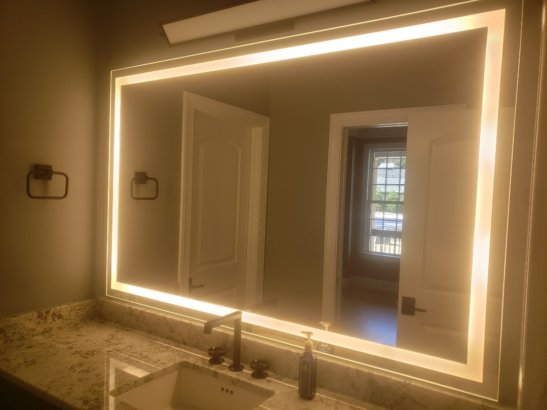 Installed two customer supplied electric/integrity mirrors