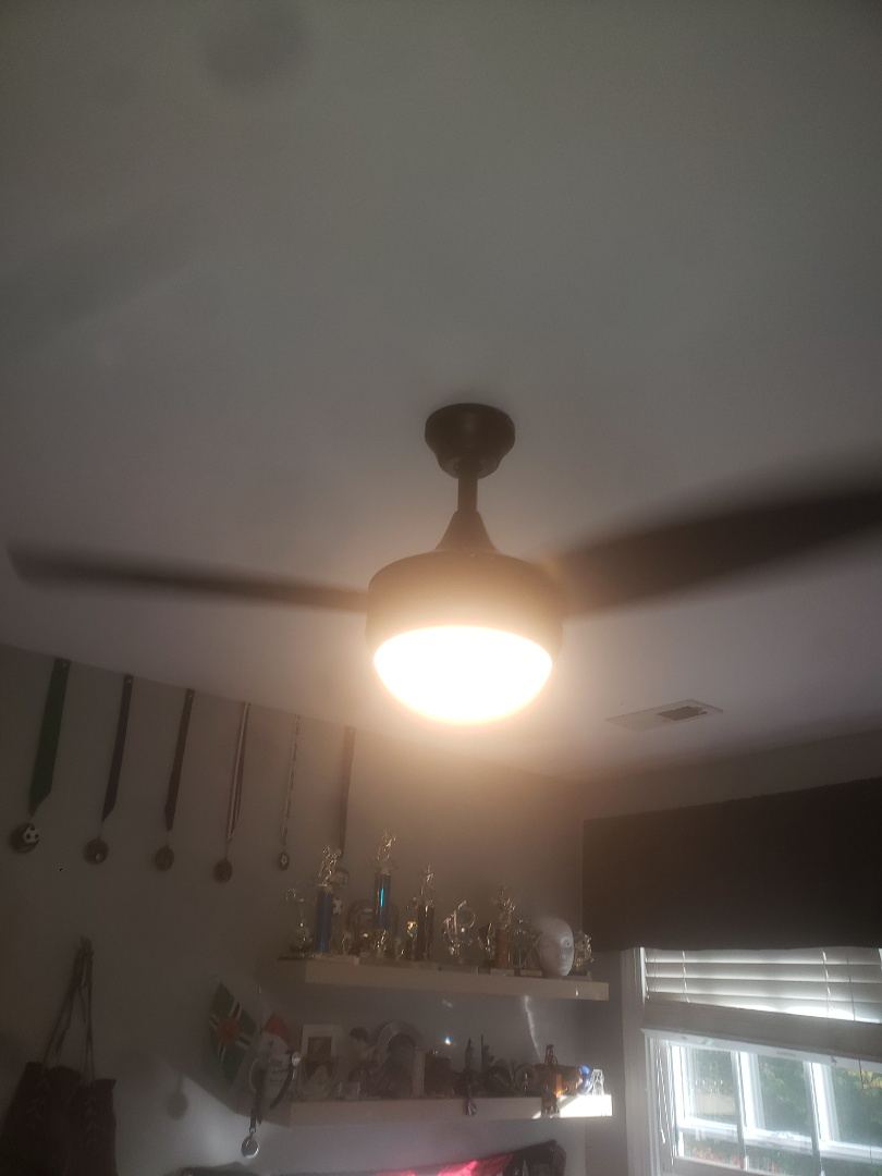 Installed two customer supplied ceiling fans