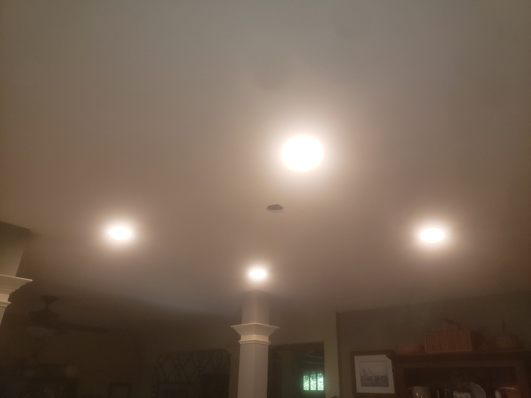 To prewire for under cabinet lights in kitchen, add cans in bar area and add circuit for microwave