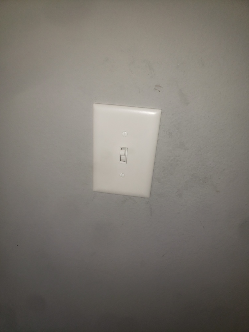 Replaced broken switch for dining light