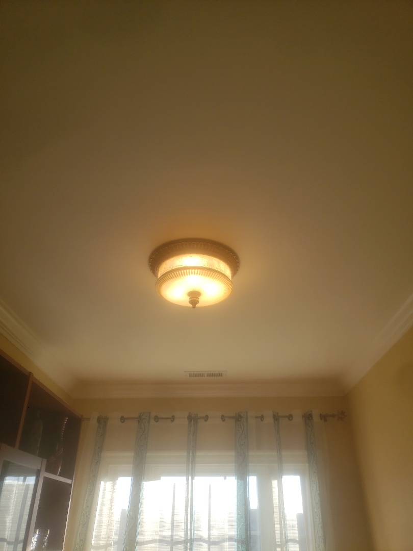 To troubleshoot faulty light switch in loft, install new outlet for cooktop and install customer supplied floodlight bulbs