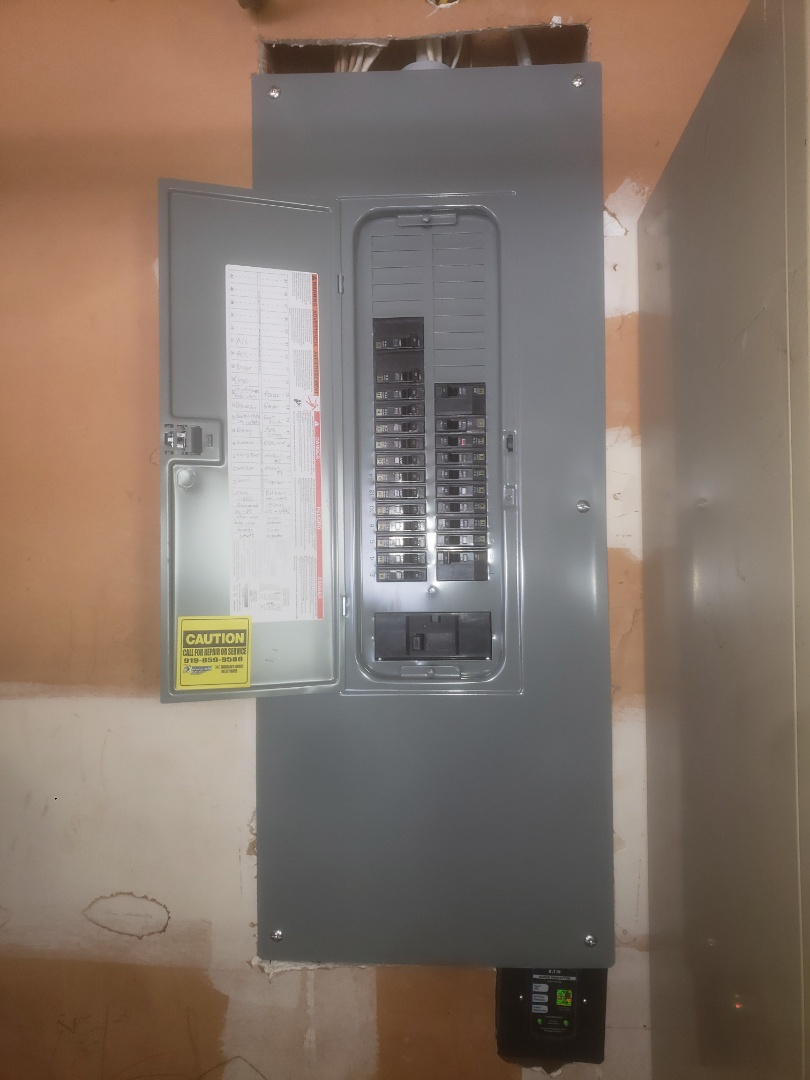 To swap out old electrical panel in garage