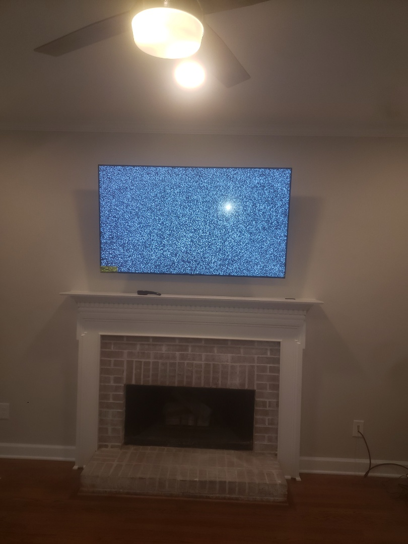 Cary, NC - To install customer supplied tv and troubleshoot outdoor lights