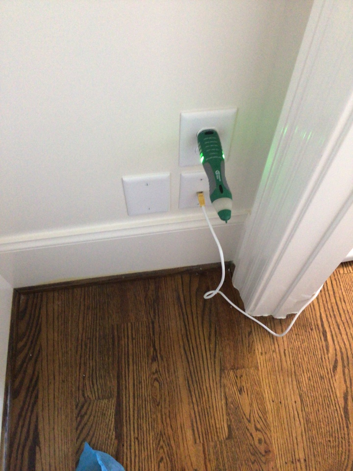 Durham, NC - Install outlet in closet for WiFi extender.