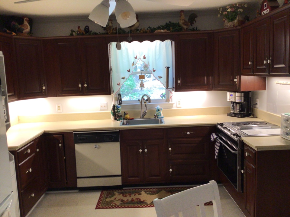 Minor master bath remodel, and under cabinet light replacement.