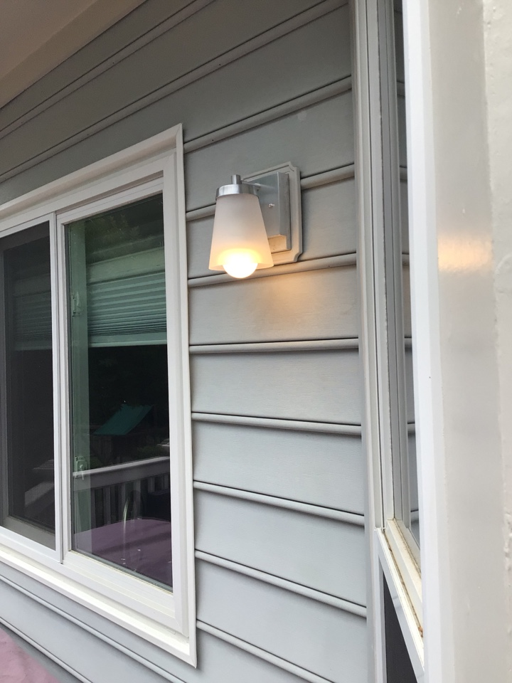 Replace outdoor outlets and fixtures.