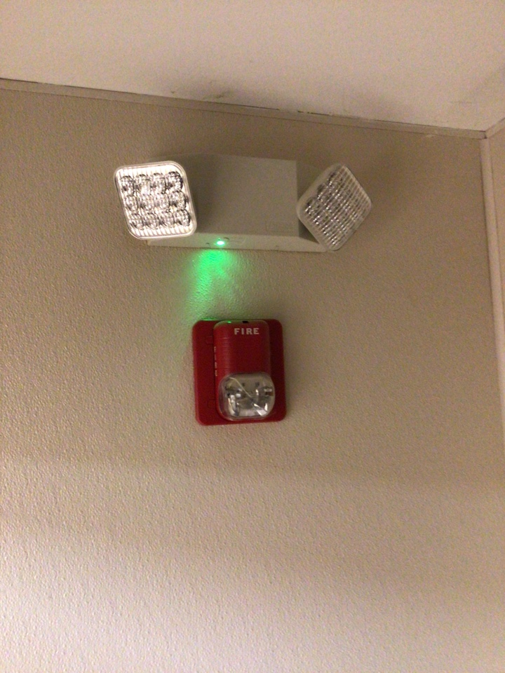 Replace emergency lights.