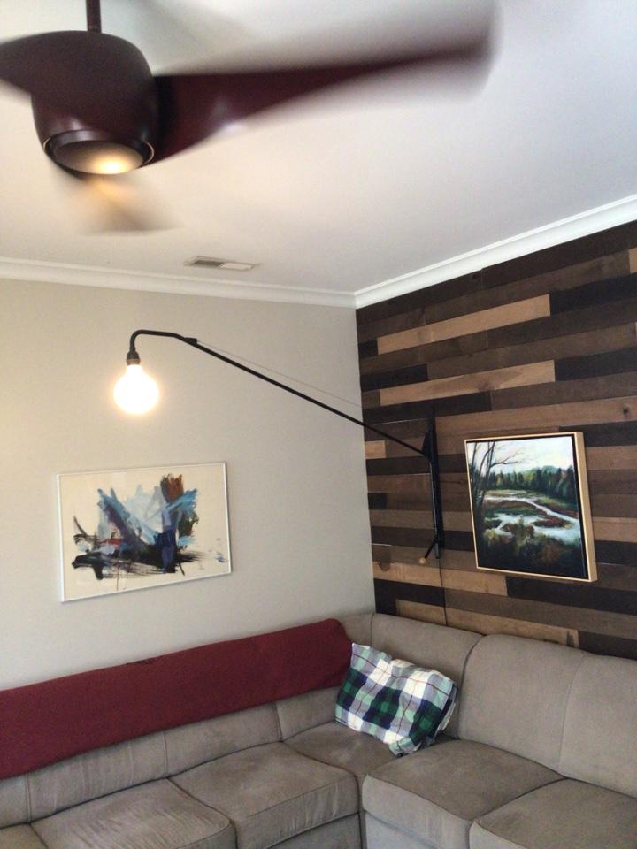 Install decorative lamp