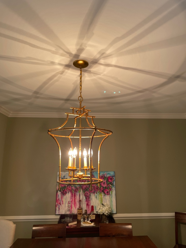 Installed two customer supplied chandeliers