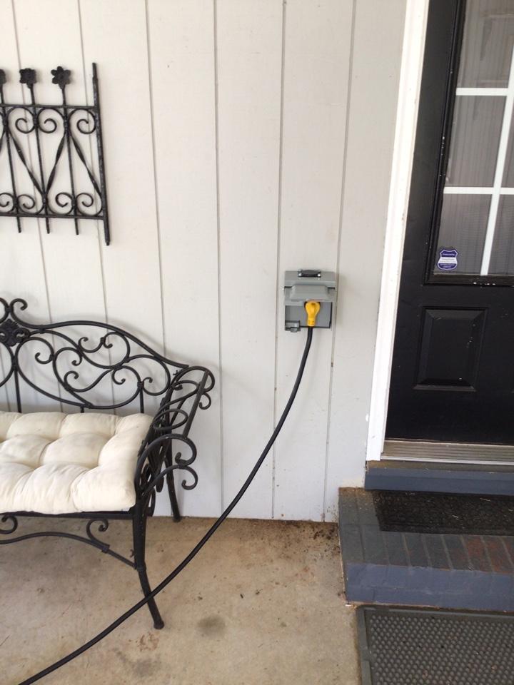 Garner, NC - Installed RV outlet