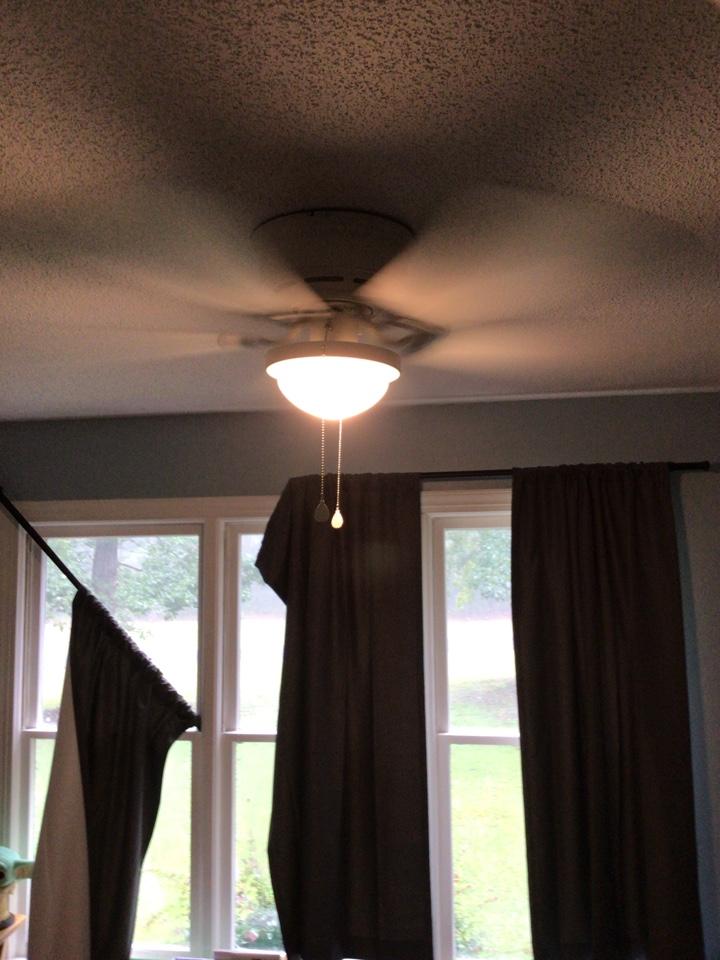 Install customer supplied fan