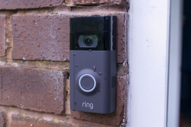 Installing a Ring video doorbell for a customer.