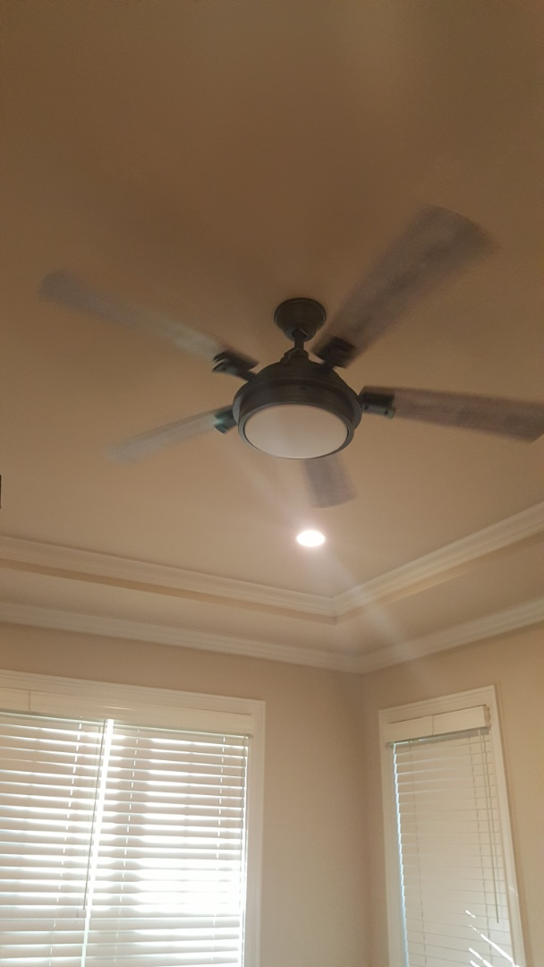 Ceiling fan install and car charger