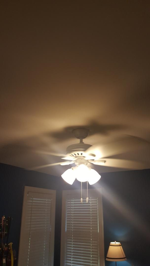 Install ceiling fan in bedroom