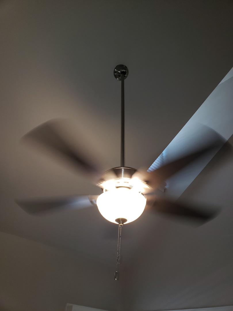 Install 3 ceiling fans and add 3 can lights