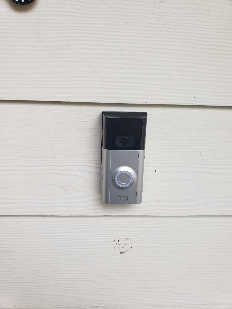 Install two ring door bells, customer supplied