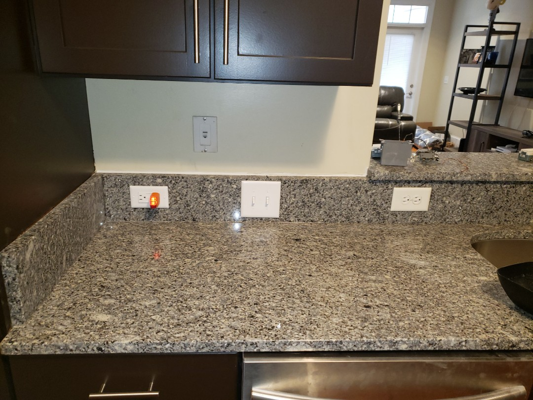 Fix electrical that was removed during countertop installation
