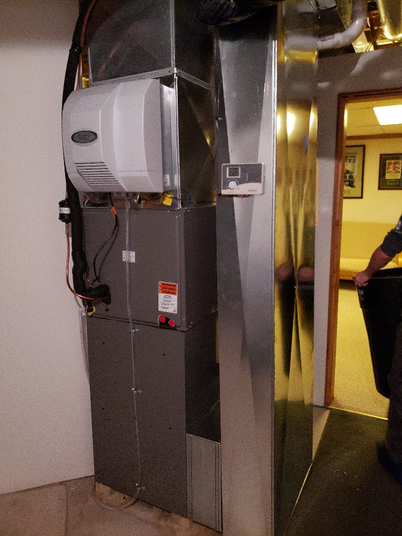Sussex, WI - New Rheem furnace and air conditioning install