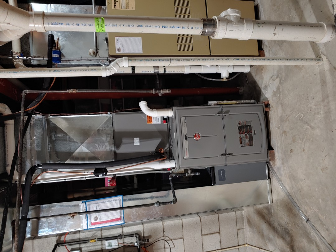 Elm Grove, WI - Install new Rheem furnace and A/C
