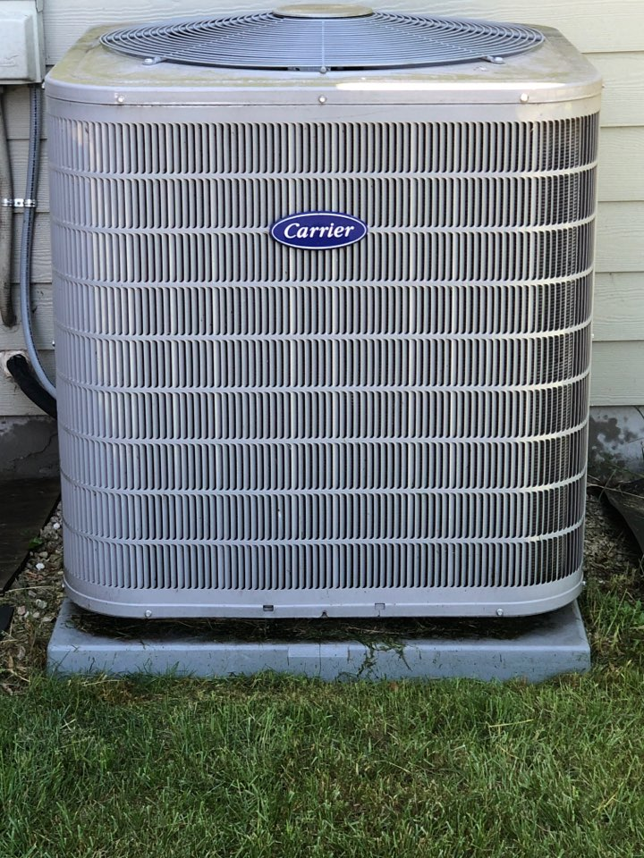 Grafton, WI - Maintenance. Tune up on Carrier Air Conditioner.