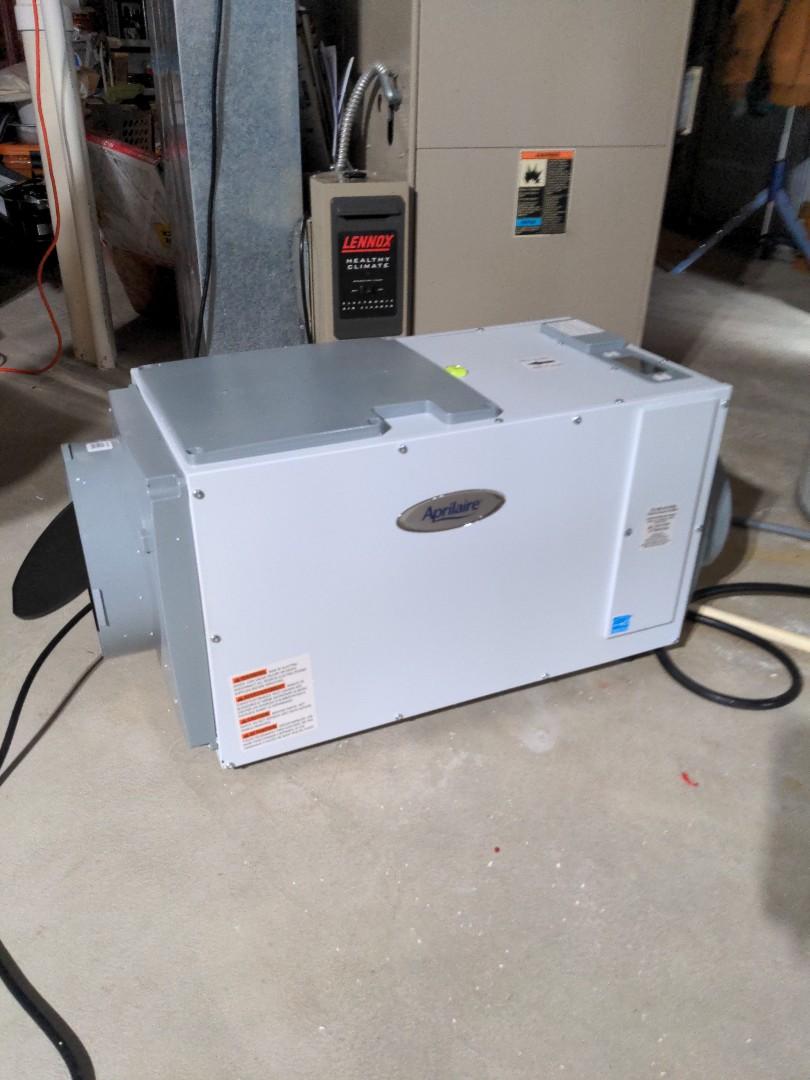 Pewaukee, WI - Aprilaire dehumidifier install