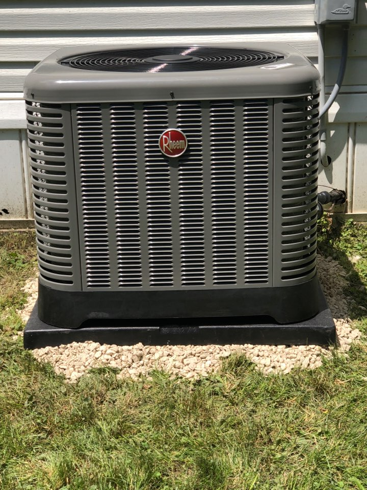 Lannon, WI - Performed install. New installation for a Rheem Air Conditioner.