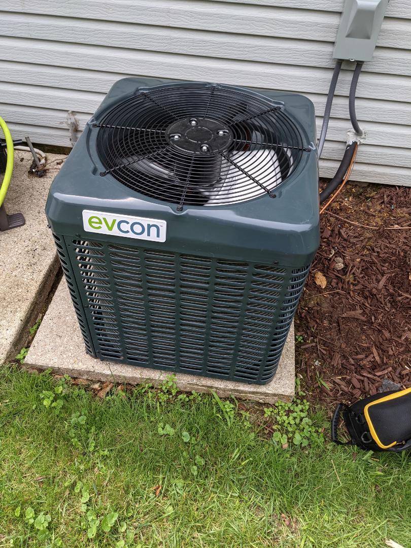 Service on evcon airconditioner