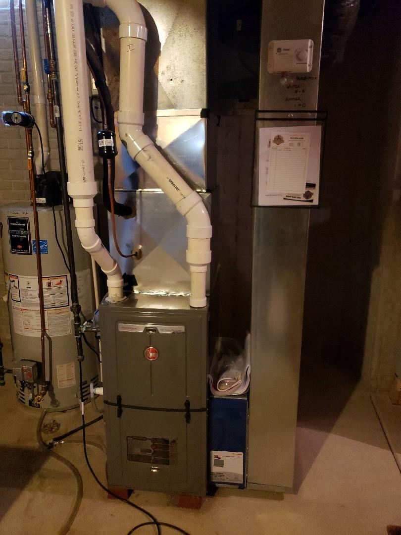 Install new Rheem furnace