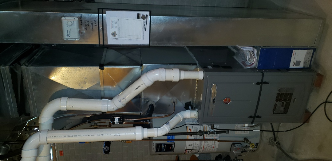 Installed New Rheem furnace
