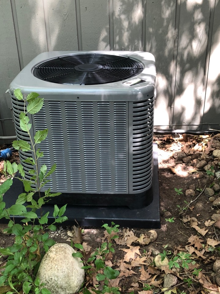 Wales, WI - Install. New install for a Rheem Air Conditioner.