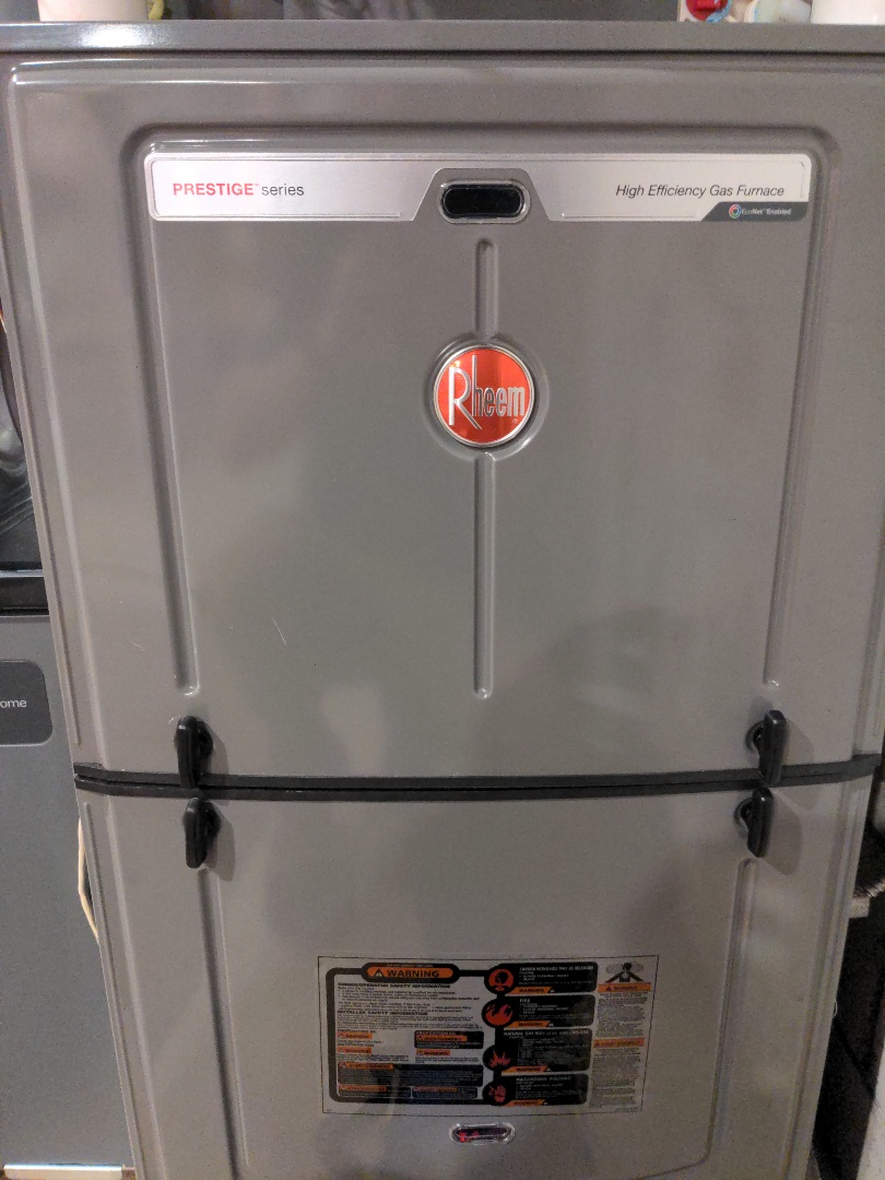 New Berlin, WI - New Rheem furnace and air conditioner install