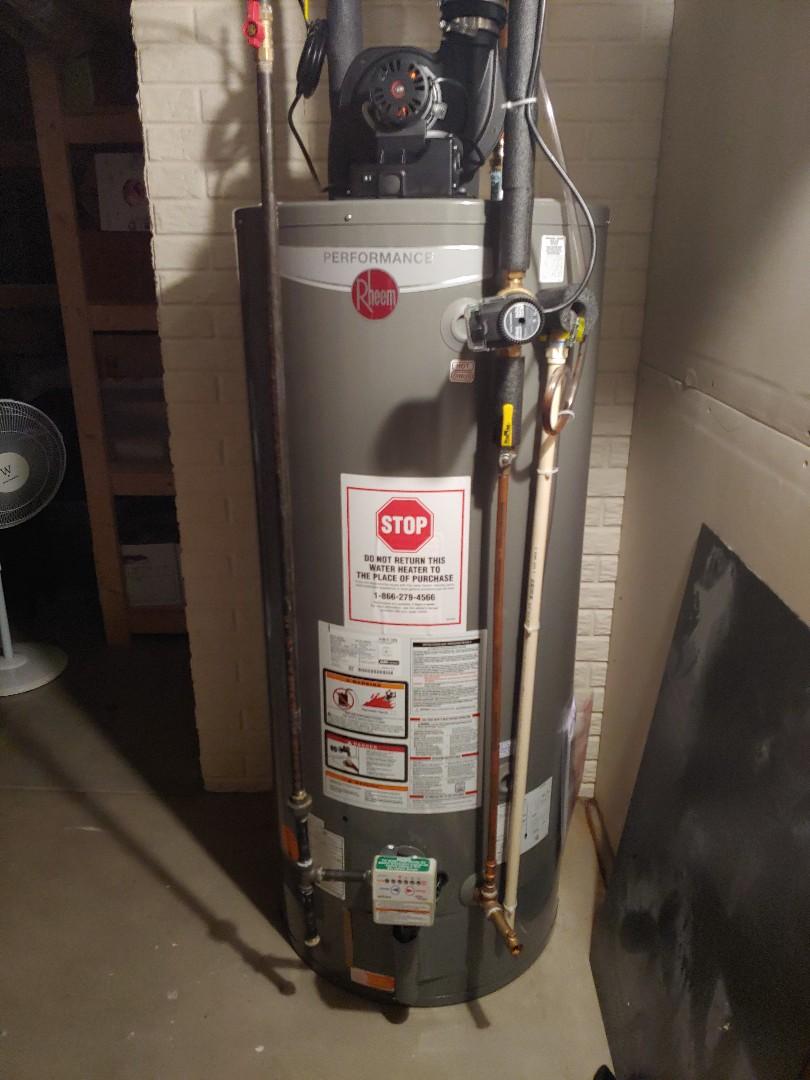 Menomonee Falls, WI - Install new rheem water heater