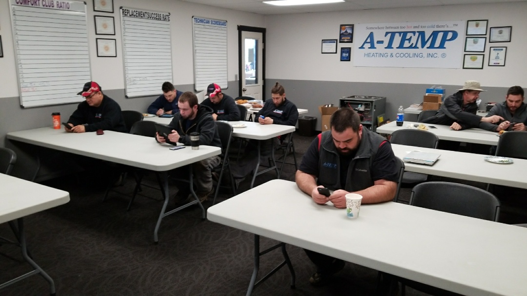 Clackamas, OR - Training A-Temp heating and cooling on Cornerstone Local software
