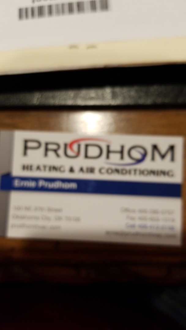 Oklahoma City, OK - Training Prudhom heating and air conditioning on Cornerstone Local in Oklahoma city.