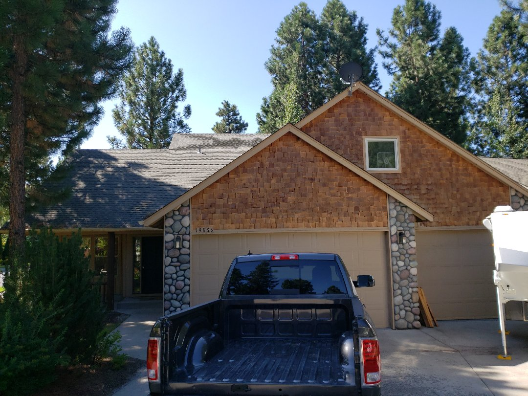 Bend, OR - Inspecting for ice dam damage and bidding for standing seam metal.