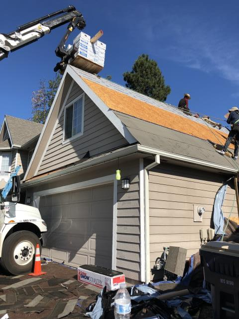 Bend, OR - Replacing a composition shingle roof in Bend with Malarkey Vista SBS architectural style shingles in Storm Gray.