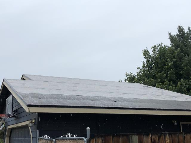 Bend, OR - Replacing a composition shingle roof in Bend with GAF Timberline HD architectural style shingles in Charcoal.