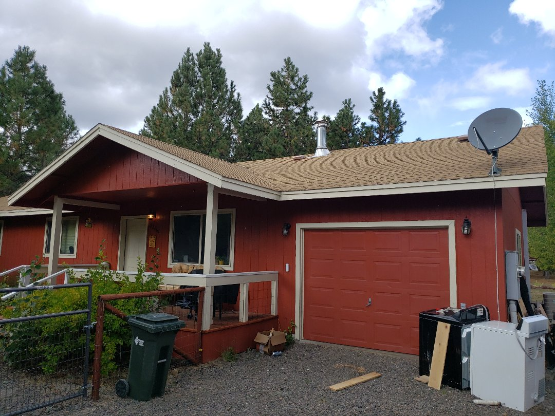La Pine, OR - Doing an inspection for an insurance company on a composition roof.