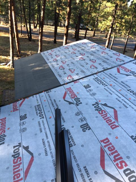 Sisters, OR - Replaced an asphalt shingle roof in Sisters with Owens Corning TruDefinition Duration architectural style asphalt composite shingles in Driftwood color.