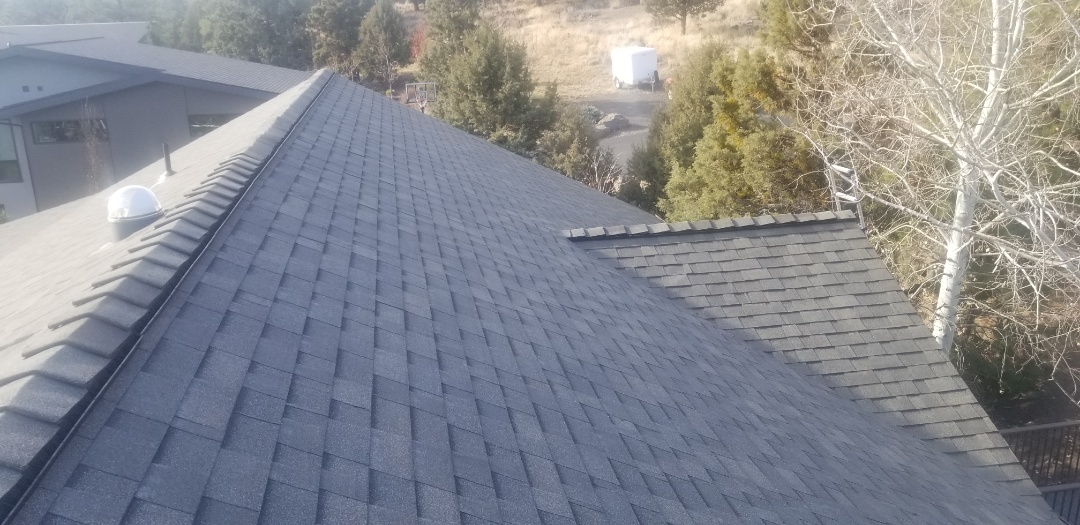 Bend, OR - GAF Timberline HD Weatherwood and Snow Country Ridge installed by Deschutes Roofing Company