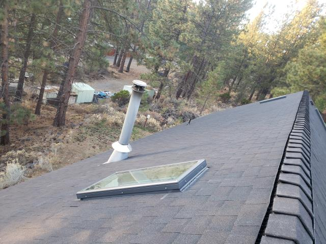 Bend, OR - Replacing a composition shingle roof in Bend with Owens Corning Oakridge Architectural shingles in Black Walnut.