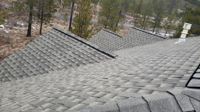 Sunriver, OR - Installed a beautiful GAF Timberline Ultra HD architectural style asphalt shingle roof in Weathered Wood in Sunriver. Includes GAF's 50-year extended System Plus product warranty.