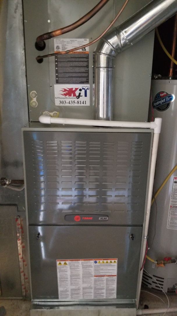 Louisville, CO - Installed Trane XL80 furnace and air conditioner
