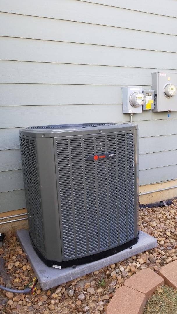 Lafayette, CO - Installation call. Installed Trane XV air conditioner