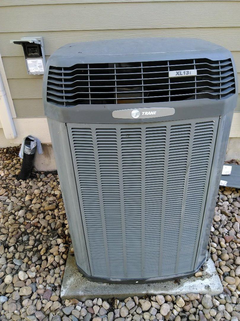Lafayette, CO - Performed AC maintenance on Trane unit