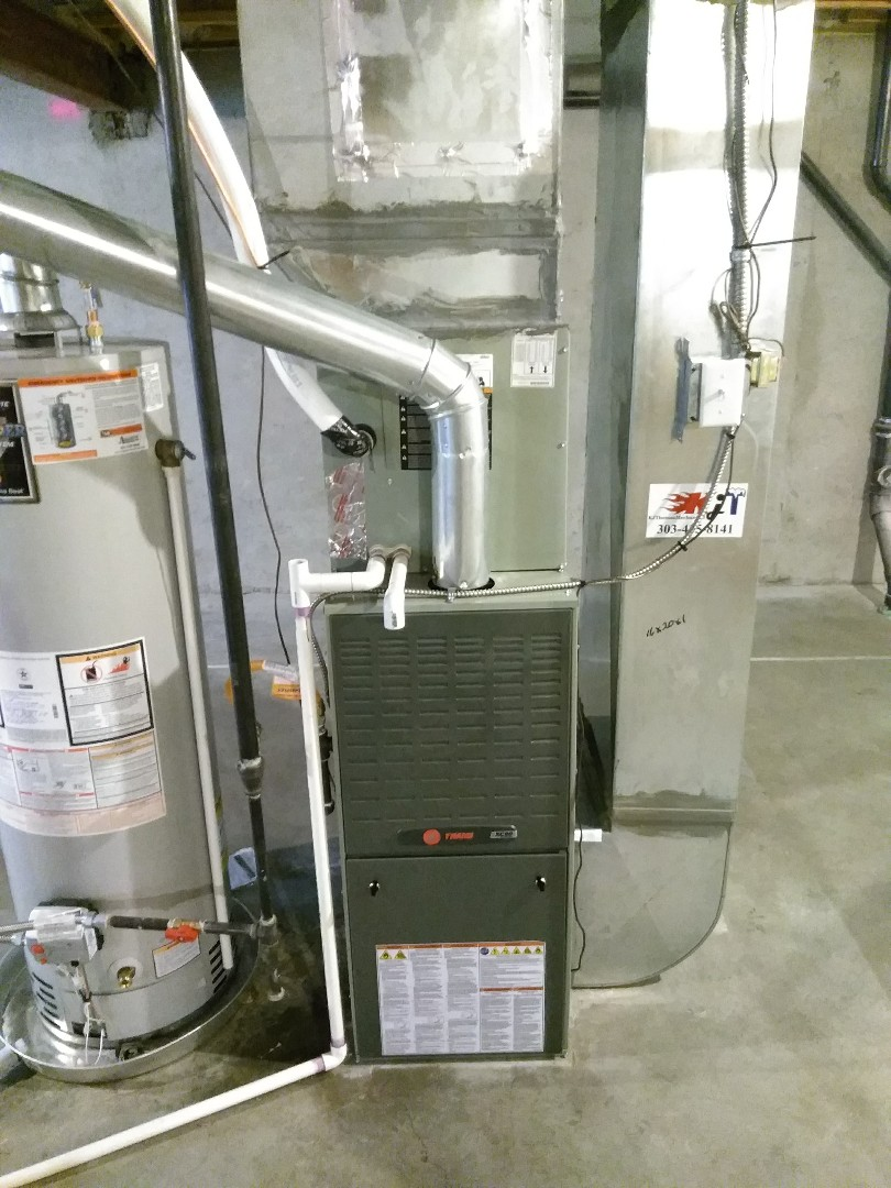 Longmont, CO - Performed furnace install on Trane unit